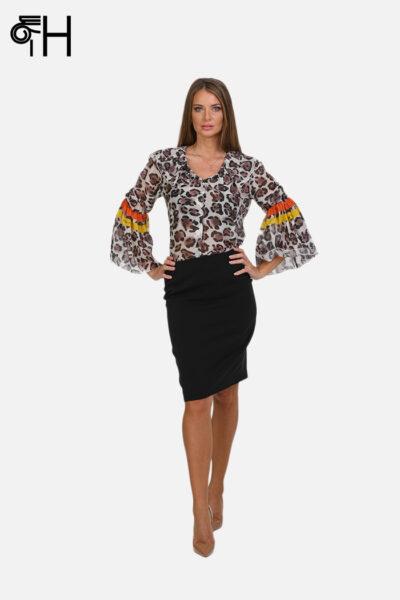 Leopard košulja sa karner rukavom 1